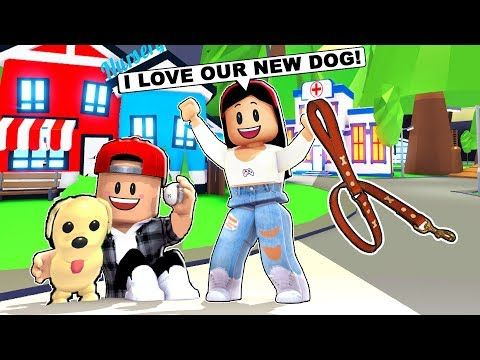 My Boyfriend I Bought Our First Dog Roblox Adopt Me Pets Update Youtube Pets Adoption Roblox