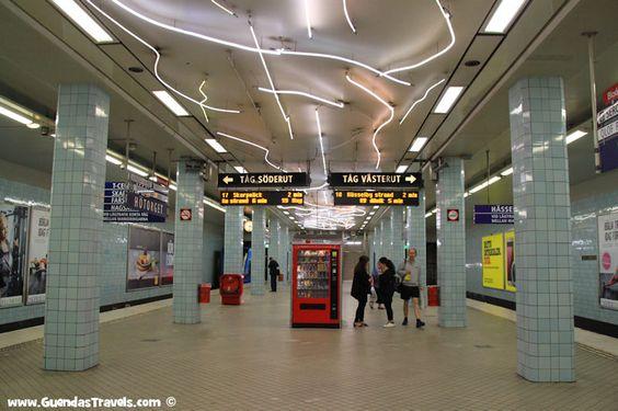arte nella metropolitana di Stoccolma hotorget