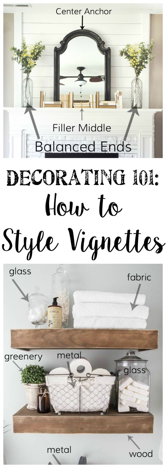 Decorating 101 - Vignette Styling - Bless