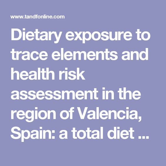 Dietary exposure to trace elements and health risk assessment in - risk assessment