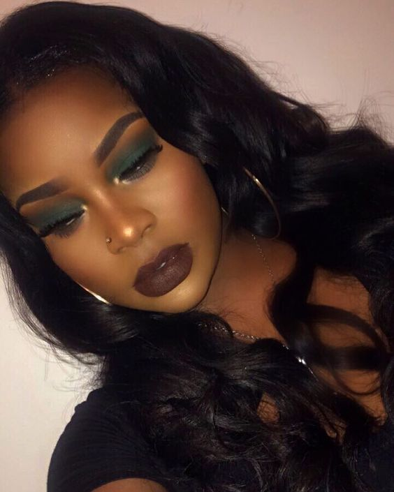 Pin By Felicia On Makeup Dark Skin Makeup Fall Makeup Looks