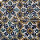 Photo of Moroccan hand painted tile 02
