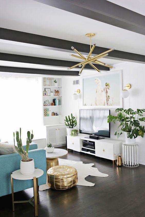 Decoraciones De Interiores 3 Dark Wood Living Room Gold Living Room Living Room Update