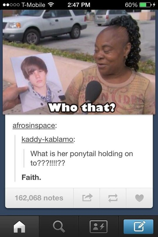 Epic Ponytail and Faith in Justin Bieber - Hair Fail ---- funny pictures hilarious jokes meme humor walmart fails