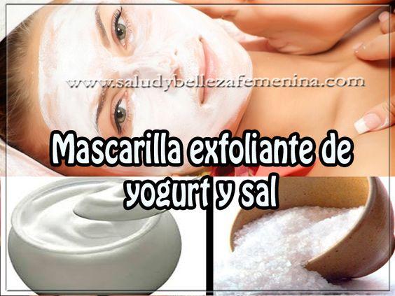 Mascarilla exfoliante de yogurt y sal