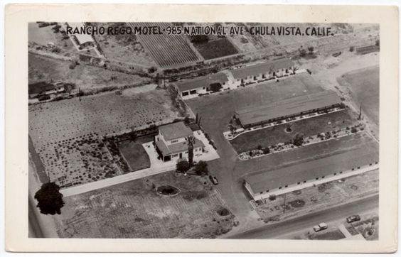RP Postcard Aerial View Rancho Rego Motel in Chula Vista, California~107872