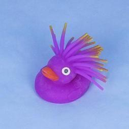 LED Wabbel-Ente mit Stachelhaar lila mini