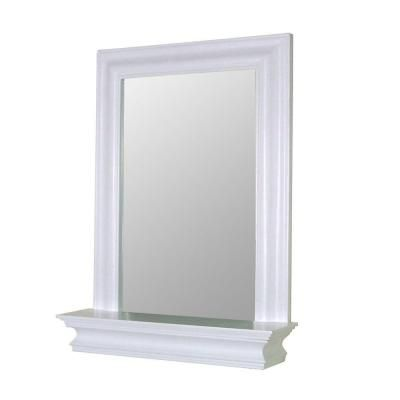 Elegant Home Fashions Stratford 24 in. x 18 in. Framed Wall Mirror in White-HD16650 at The Home Depot