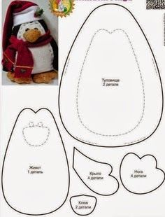 DIY Felt PenguinFREE Sewing Pattern FREE Felt  Toy Patterns