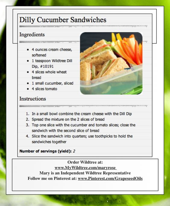 Dilly Cucumber Sandwiches www.HealthyRecipesQuick.com