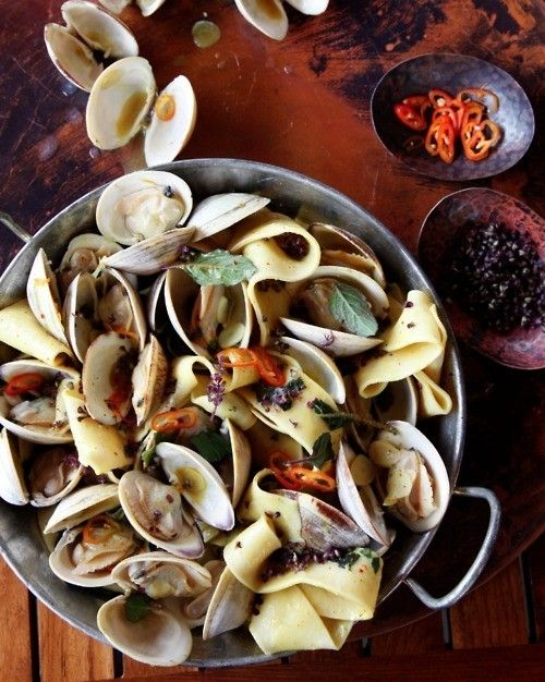 clams pappardelle