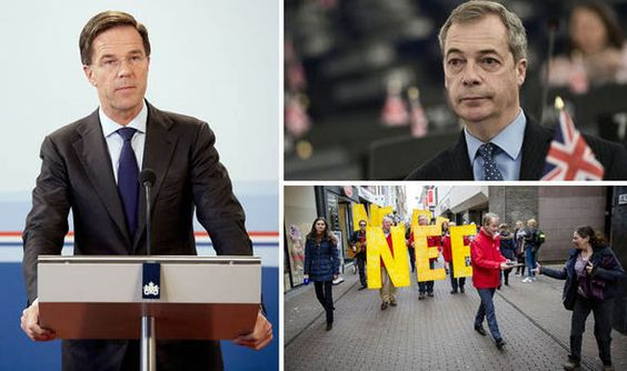 EU has gagged politicians from discussing the Dutch referendum -  Nigel Farage and Mark Rutte