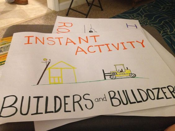 Instant activity posters