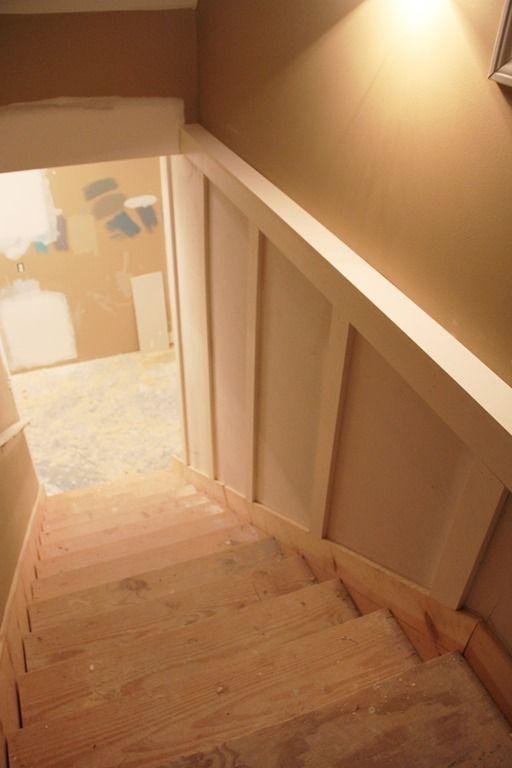 Basement Stairs Finishing Ideas Decor Basement Board And Batten Under Construction  Basements .