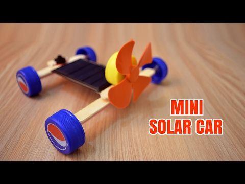 How To Make A Mini Solar Car Homemade Youtube Solar Energy