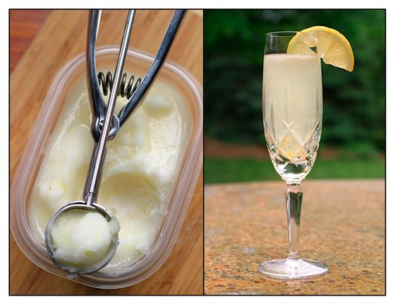 "A sgroppino is made by whipping together Italian Prosecco, lemon sorbet and vodka. Sgroppino means ""to untie"" as in, to ""untie your stomach"" after a meal."
