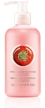 Pin for Later: 34 Wimbledon-Inspired Strawberries-and-Cream Beauty Buys The Body Shop Strawberry Body Puree The Body Shop Strawberry Body Puree (£3)