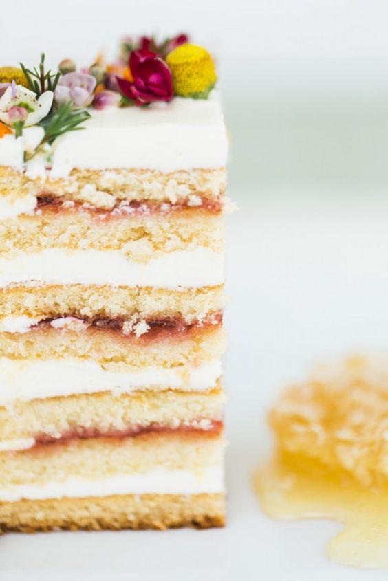 Honey, Jam and Rose Buttercream Cake