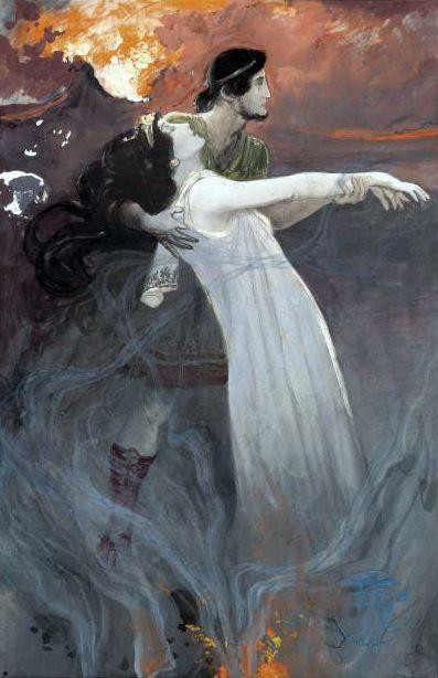 Anselm Feuerbach - Orfeo y Eurídice