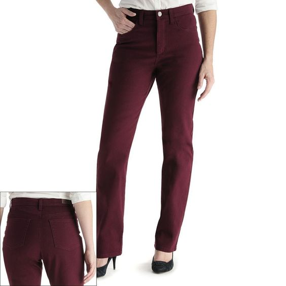 Details about Lee Jeans Slimming Straight leg solid denim Lush