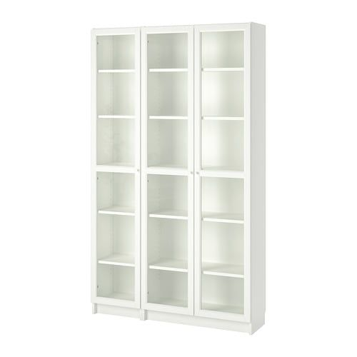 Billy Oxberg Bookcase With Glass Doors White 47 1 4x11 3 4x79 1 2 Ikea Bookcase Bookcase With Glass Doors White Bookcase
