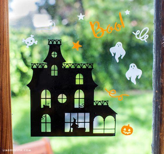 halloween window clings walmart