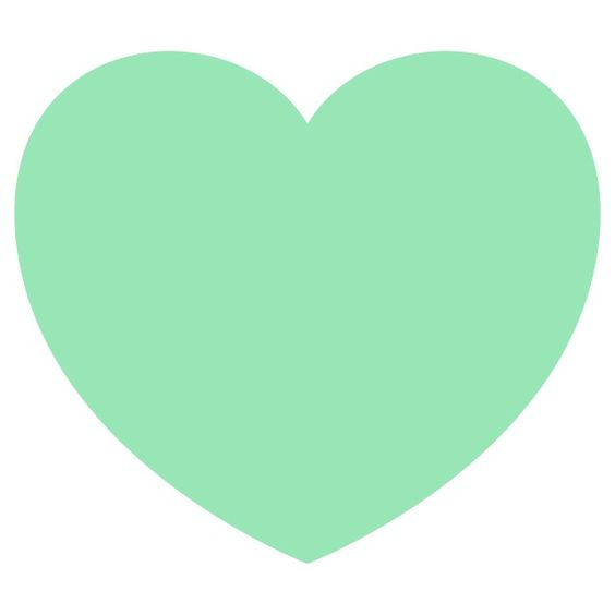 Mint green heart wallpaper