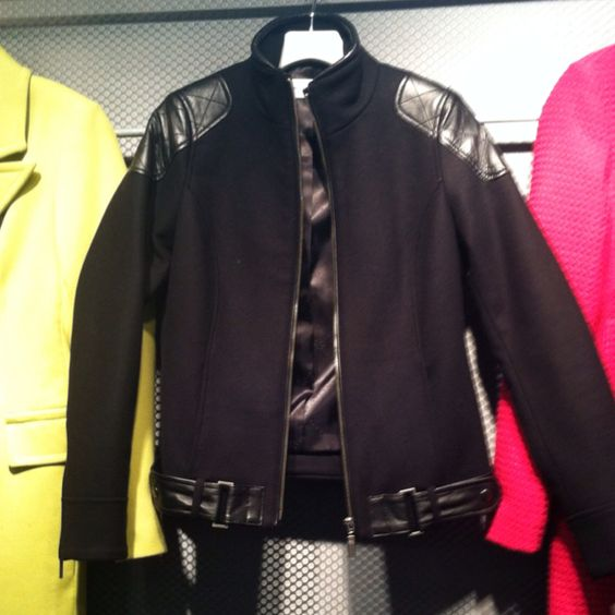 Leather accents at @TrinaTurk