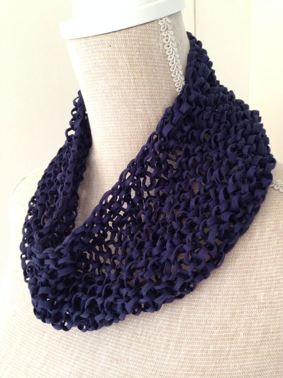 Knitting Cowls In The Round : Cotton spring summer knitted cowl made by me used mm