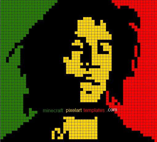 Pixel Art Templates Hard minecraft pixel art templates coloring ...