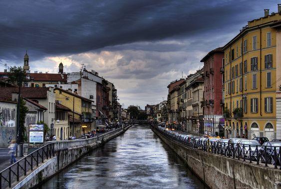 I navaigli - Milano, Italy.  Canals made from 1179.  I truly left my heart in Italy.  flickriver.com