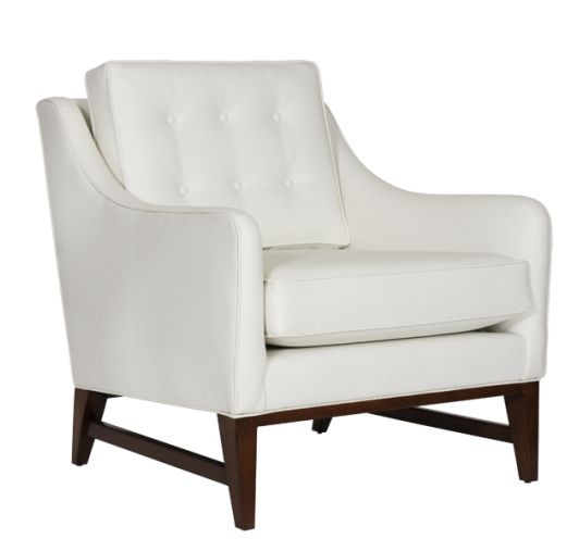 CHESTER CR - Arm chair with tufted back and cushion in cream