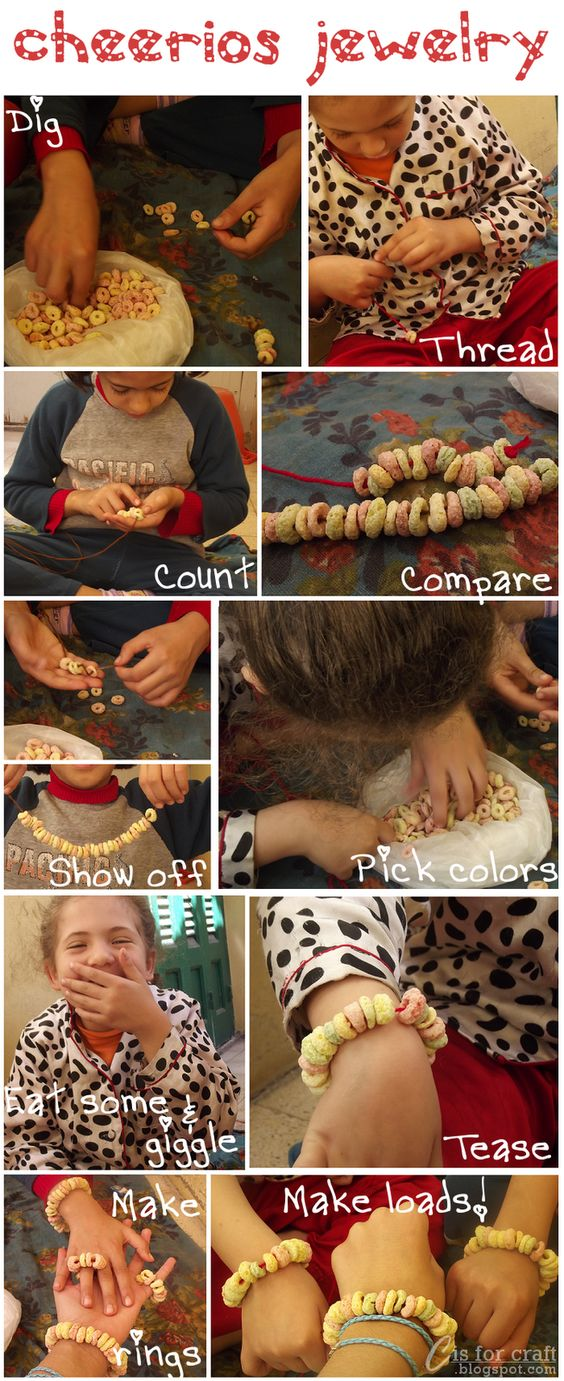 Keeping kids busy: Cheerios Jewelry!