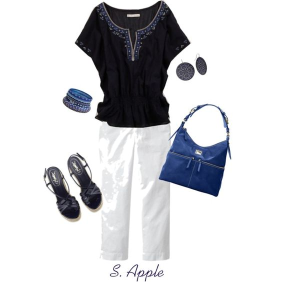 """Navy and Royal Blue"" by sapple324 on Polyvore"