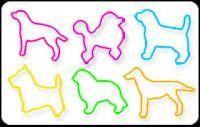 BAG O DOGS4 Glow-in-the-Dark Rubber Band Bracelets 24pk RETIRED
