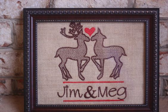 Custom Deer Burlap Sign by CangialosiSpecialty on Etsy