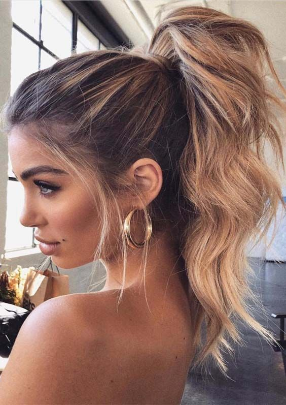 Stunning High Ponytail Hairstyles Trends For Modern Look In 2019 Fashionsfield Hair Styles Winter Hairstyles Long Hair Styles