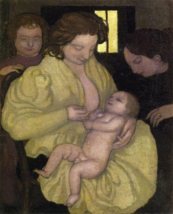Maternité Denis Maurice, 1895 Huile sur toile, environ 81 x 65 cm Collection privée