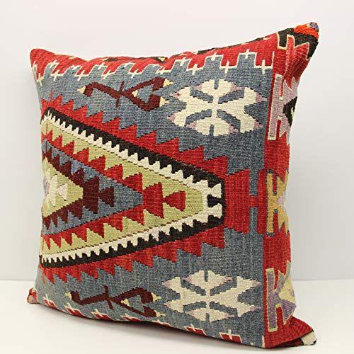 Accent Pillow Tribal Pillow Throw Pillow Boho Pillow Bohemian Kilim Pillow 24x24 Turkish Kilim Pillow Cushion Cover Kilim Pillow