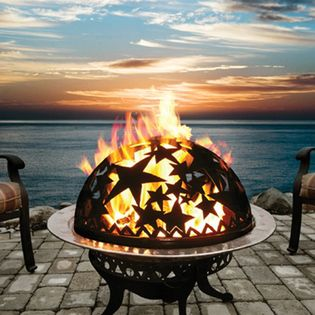 Cute!  Good Directions Starry Night Small Fire Dome - Complete Set-