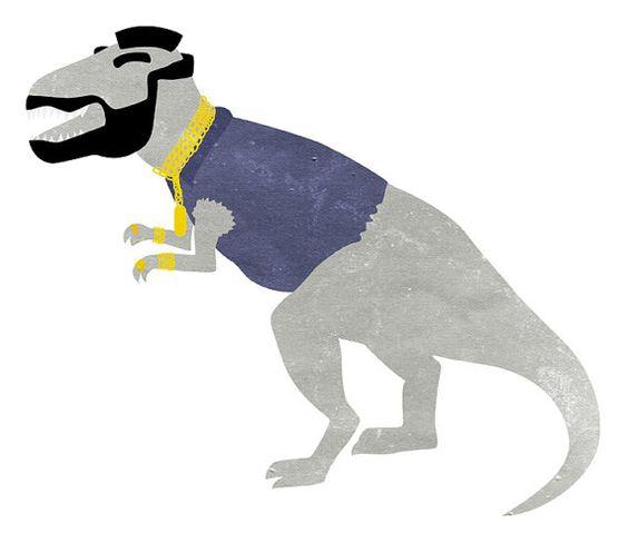 Dinosaur Illustration / Mr TRex by Kaydidid