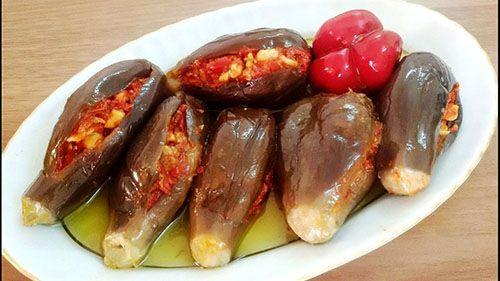 طريقة عمل مكدوس الباذنجان الأصلي أكلات شعبية Egyptian Food Cooking Recipes Food