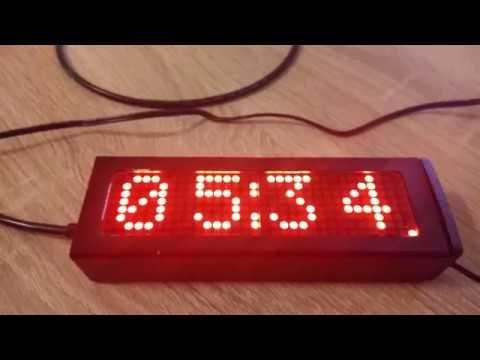 Arduino Clock With Matrix Display Youtube Arduino Clock Display