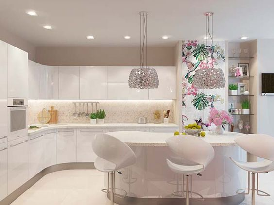 Superieur 30+ Most Beautiful White Kitchen Design Ideas 2016 | Kitchen Design,  Kitchens And Interiors