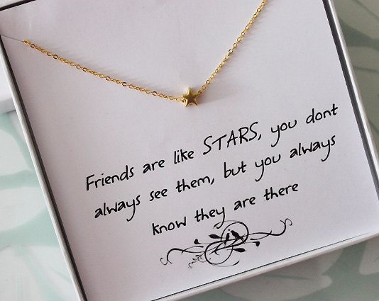 Wedding Gift Message For Best Friend : ... message carte carte collier collier etoile gift ideas diy best friend
