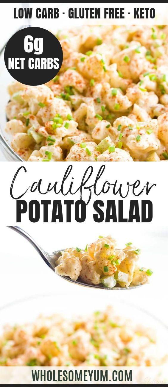 This Quick Easy Cauliflower Mock Potato Salad Recipe Is