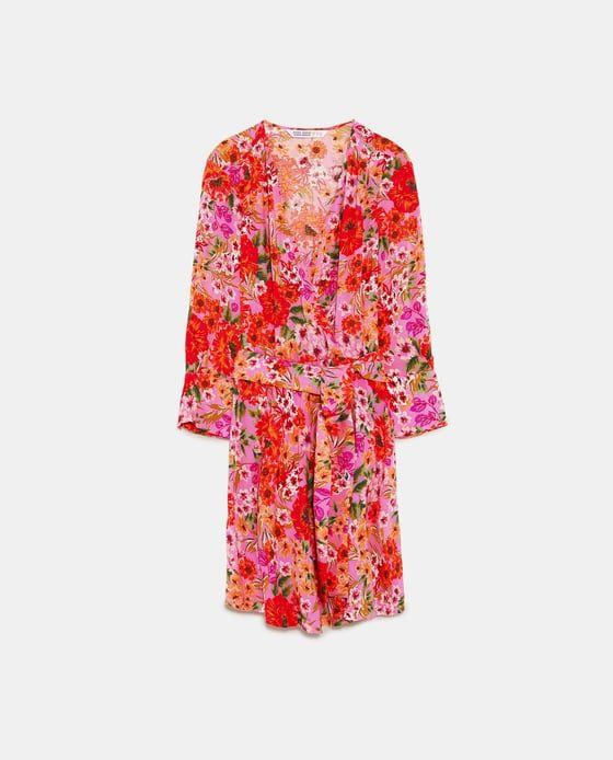 Zdjecie 8 Sukienka Z Nadrukiem W Kwiaty Z Zara Floral Print Dress Accessories Jacket Print Dress