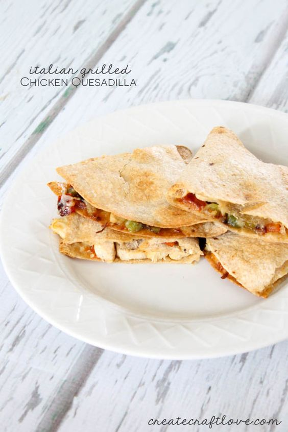 Italian Grilled Chicken Quesadilla The Olive Olives And Grilled Chicken Quesadillas