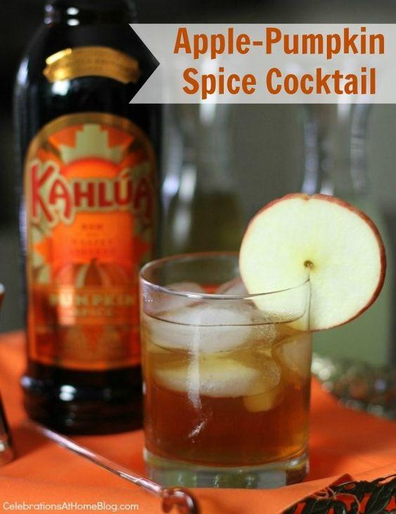 Apple-Pumpkin Spice Cocktail #KahluaHoliday