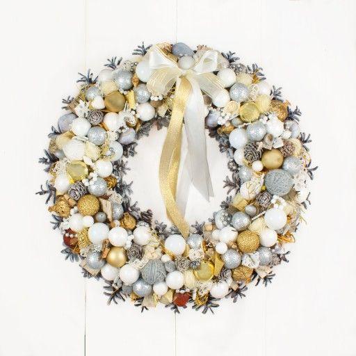 Wianek Na Drzwi W 57 Naturalny W 100 Swiateczny 7704752755 Oficjalne Archiwum Allegro Christmas Wreaths Fall Wreath Holiday Decor